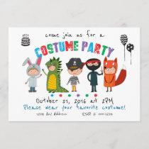 Kids Costume Party Invitation