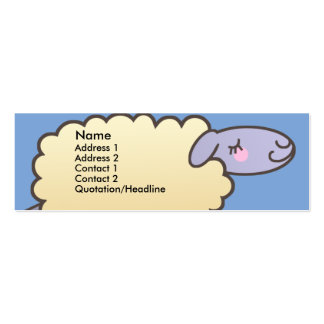 Kids Counting Sheep Skinny Profile Cards Business Card