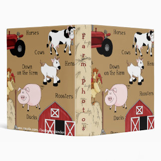 Kids Country Fun Farm Animals Avery Binder