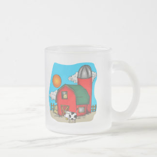 Kids Cow T Shirts and Gifts Frosted Glass Coffee Mug