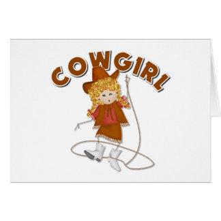 Kids Cowgirl Gift Greeting Card