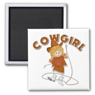 Kids Cowgirl Gift Refrigerator Magnet