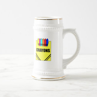 Kids Crayon T Shirts and Kids Gifts 18 Oz Beer Stein