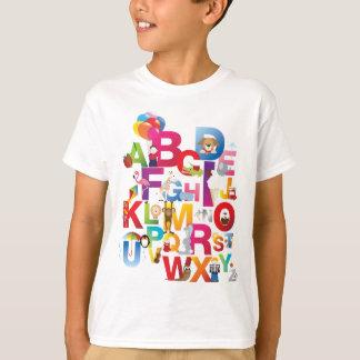 kids crazy alphabet t-shirt