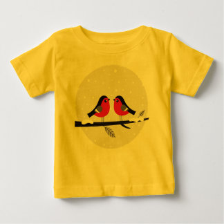 Kids creative t-shirt with LOVE BIRDS