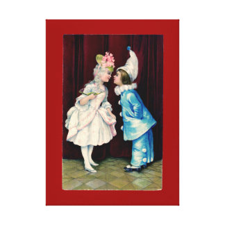 Kids Curtsy CHANGE COLOR ~ .75 Thick Canvas Canvas Print