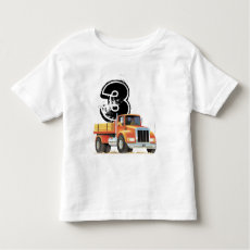 Kid's Custom 3rd Birthday Red Truck Toddler T-shirt