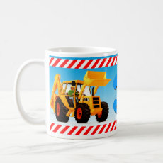 Kid's Custom 3rd Birthday Yellow Digger Coffee Mug