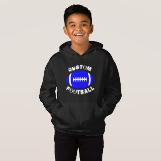 Kid's Custom Blue Football Sweatshirt