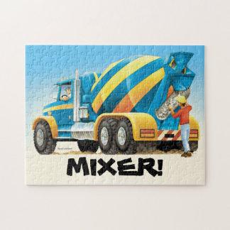 Kids Custom Concrete Mixer Construction Truck Jigsaw Puzzle