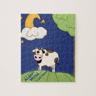 Kids Custom Cow Over The Moon Puzzle