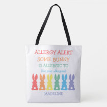 Kids Custom Easter Some Bunny Is Allergic To Tote Bag