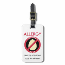 Kids Custom Egg Allergy Emergency Luggage Tag
