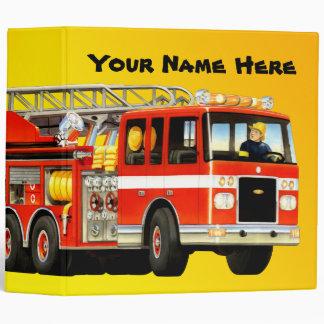 Kid's Custom Fire Truck Binder