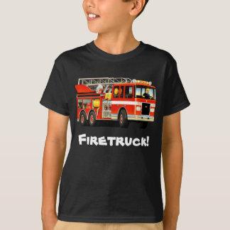 Kid's Custom Fire Truck T-Shirt