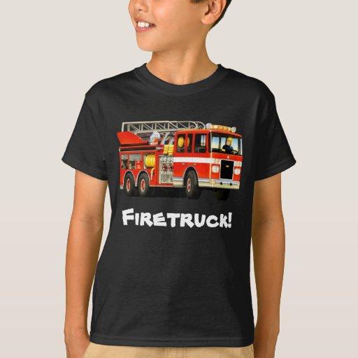 Kid 39 s custom fire truck t shirt zazzle for Custom fire t shirts