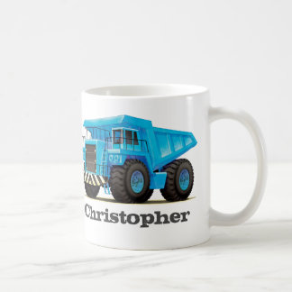 Kids Custom Name Construction Dumper Truck Classic White Coffee Mug