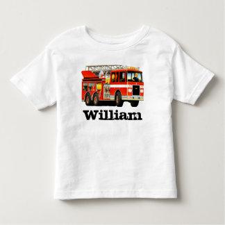 Kid's Custom Name Fire Truck Toddler T-shirt