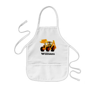 Kid's Custom Name Yellow Digger Kids' Apron