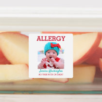 Kids Custom Photo Allergy Alert Personalized Labels