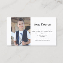 Kids Custom Photo Food Allergy Medical Alert Card
