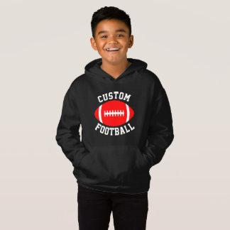 Kid's Custom Red and Black Football Sweatshirt