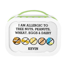 Kids Customizable Multiple Food Allergy Alert Lunch Box