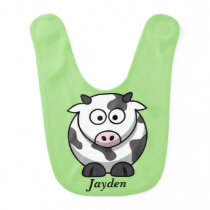 Kid's Cute Baby Cow Bib