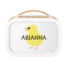 Kids Cute Fluffy Yellow Chick Girls Personalized Lunch Box