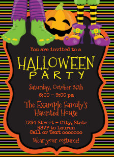 children halloween invitations zazzle