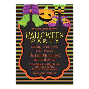 Halloween Themed Kids Cute Halloween Party Invitations