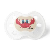 Kid's Cute Happy Crab Pacifier