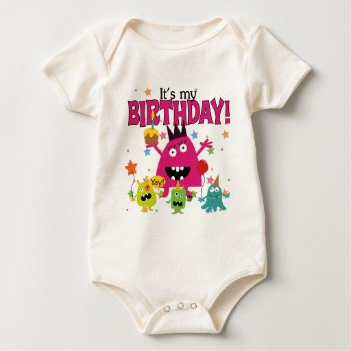 Kids Cute Monster Birthday Baby Bodysuit