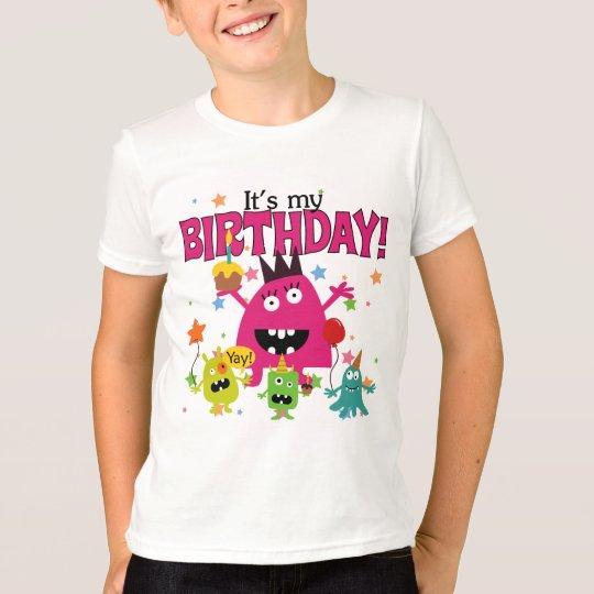 Kids Cute Monster Birthday T-Shirt