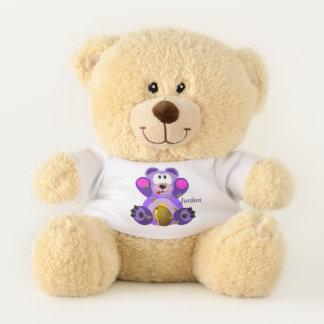 Kid's Cute Purple Teddy Bear
