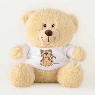 Kid's Cute Tabby Kitten Teddy Bear
