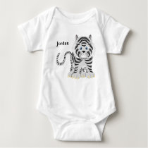 Kid's Cute White Baby Tiger Baby Bodysuit