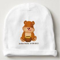 Kid's Cute Woodland Honey Bear Baby Beanie