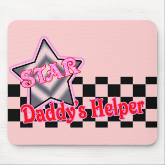 Kids Daddys Helper T Shirts and Kids Gifts Mouse Pad