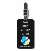 Kids Dairy Allergy Alert with Epinephrine Image Bag Tag