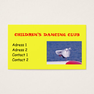 Kids Dancing Club Business Cards