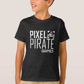 Kids Dark T-Shirt - Pixel Pirate Games Logo
