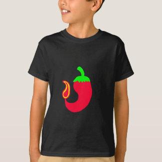 Kids Dark T-Shirt Vertical Hot Jalapeno