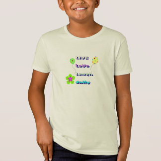 "Kids Designer ""LIVE LoVe Laugh daily"" t-shirt"