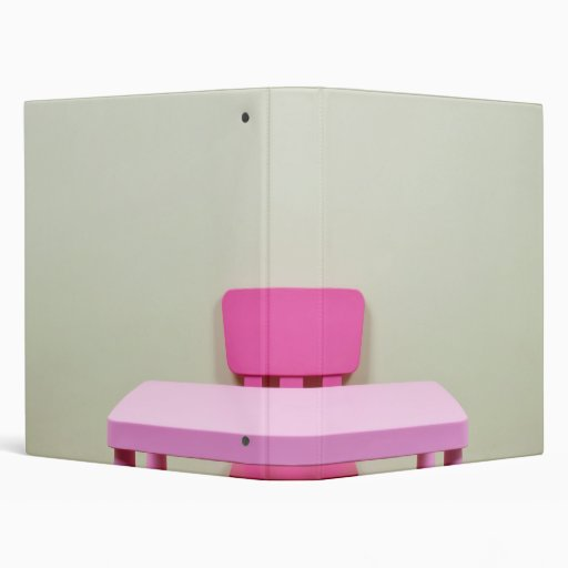 Kids desk and chair against the wall 3 ring binder