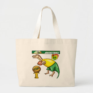 Kids Dinosaur Basketball Tote Bag
