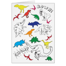 Kids Dinosaur Birthday Card