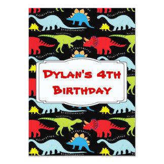 "Kids Dinosaur Birthday Party Invitations 4.5"" X 6.25"" Invitation Card"