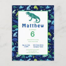 Kids Dinosaur Birthday Party T-Rex Invitation