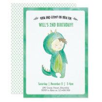 Kids Dinosaur boy Birthday Invitation